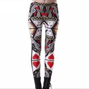 Pants - Queen 👑 Of Hearts Leggings S-XL (Last 2)